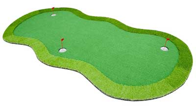 An Indoor and Outdoor Pitch and Putt Golf Artificial Putting Green